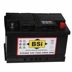 Akumuliatorius BSI 72 Ah 680 A EN 12V