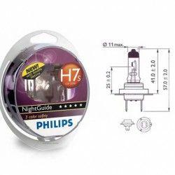 Lempučių komplektas PHILIPS  55W 12V PX26d H7 NIGHT GUIDE SDL