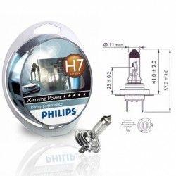 Lempučių komplektas PHILIPS  55W 12V PX26d H7 X-treme Power+80%