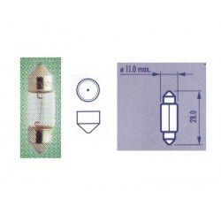 Lemputė 12v10w SV8,5 11x28mm Festoon NARVA  10W 12V SV8,5 11x28mm