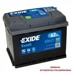 Akumuliatorius EXIDE 62 Ah 540 A EN 12V