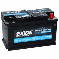 Akumuliatorius EXIDE 80 Ah 800 A EN 12V AGM