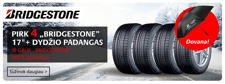 Bridgestone padangos akcija