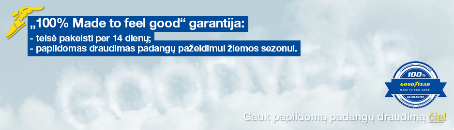 Goodyear garantija