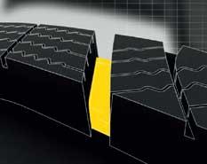 Goodyear UltraGrip Performance SUV įpjovų ir blokų išdėstymas