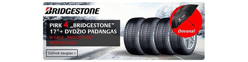 Pasinaudok specialiu Bridgestone pasiūlymu!