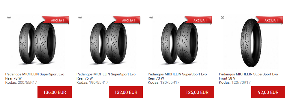 Super akcija Michelin SuperSport Evo padangoms!