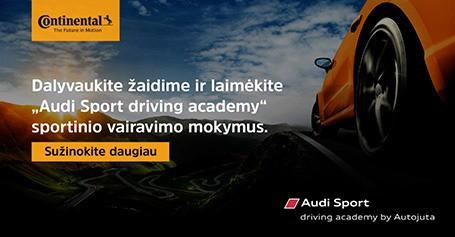 Laimėk sportinio vairavimo mokymus su Continental!