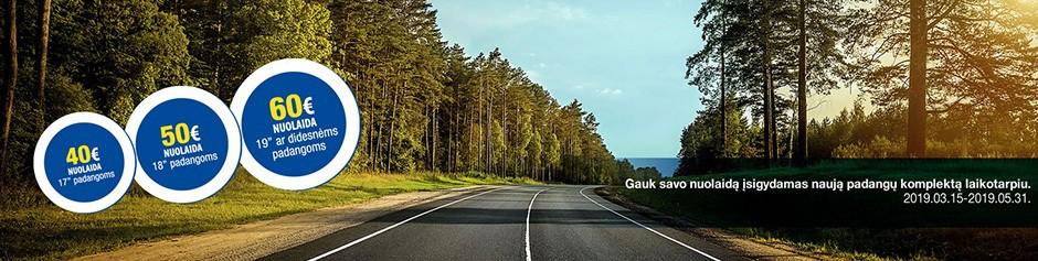 Nuolaida iki 60 Eur Tavo naujoms Goodyear/Dunlop padangoms!