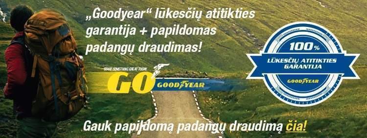 Goodyear garantija ir papildomas padangų draudimas