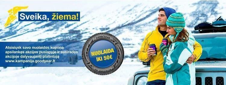 Net iki 50 Eur nuolaida perkant Goodyear ar Dunlop padangas JUTA parduotuvėse!